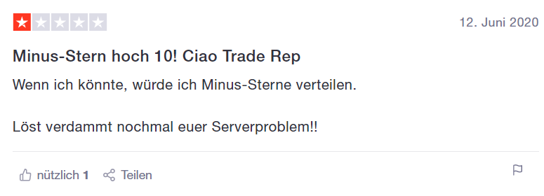 negative bewertung trade republic
